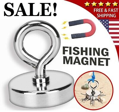 Super Strong Magnet Heavy Lifting Hook Retrieving Treasure Pulling Force Fishing