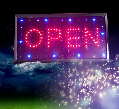 Us Bright Led Neon Light Animated Motion With Onoff Open Closed Business Sign