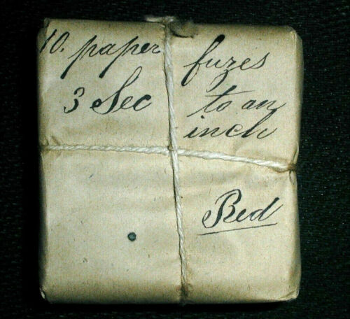 CIVIL WAR CANNON 1863 6 SECOND PAPER FUSES PACK OF 10 WATERVLIET ARSENAL