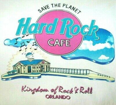 Vtg HARD ROCK CAFE ORLANDO T SHIRT Rare 90's Tee USA MADE SINGLE STITCH Music