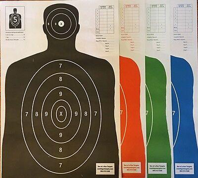 Paper Shooting Targets Silhouette Gun Pistol Rifle B-27E Qty 100 23x35 KOGC