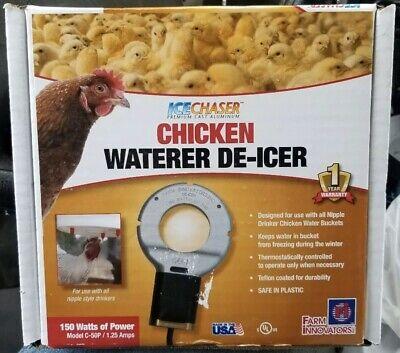 Farm Innovators C-50P Utility Chicken Waterer De-Icer, 150W! NEW! FREE SHIPPING!