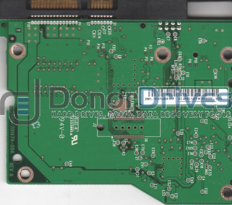 WD7500AACS-00ZJB0, 2061-701474-600 01P, WD SATA 3.5 PCB