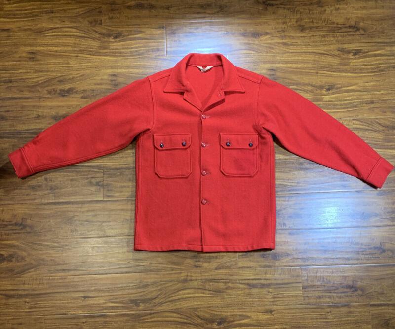 Vtg. Boy Scouts Official Red Coat Jacket - Heavy Wool Coat - Mens Medium Large