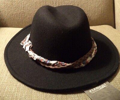 ELEMENT BIXBY WOOL FEDORA HAT BLACK JAHTCBIX *NEW* - Element Wool Hat