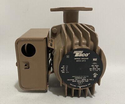 Taco 00 Series High Velocity Cartridge Circulator 0013-sf3 115v 16 Hp 3250 Rpm