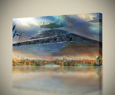 Star Wars Destroyer Ship CANVAS PRINT Wall Home Decor Giclee Art Poster CA740