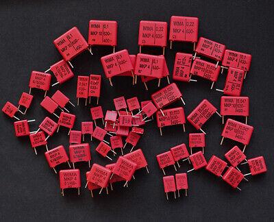 Wima Mkp Film Capacitors Variety Kit Mkp10 Mkp4 Mkp2 100v To 630v. X 66pcs.