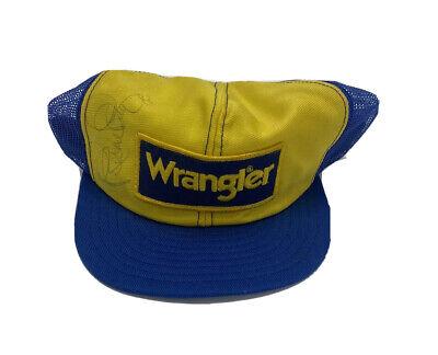 Vintage 80s Richard Petty Wrangler Jeans Nascar Signed Autographed Hat USA