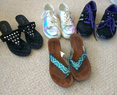Job lot girls shoes/sandals size 2 to 2.5 including Clarks trainers