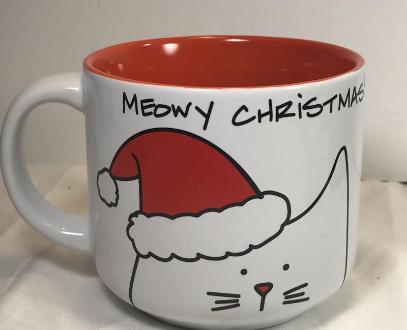 Blobby Cat Christmas Cat Coffee Mug 2015