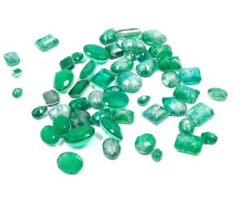 Wholesale Lot Of 30 Cts.Faceted Emerald Simulant Mix Shape Loose Cab Gemstone