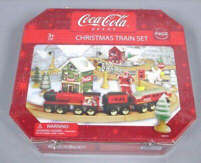 Maxim 36413 Coca-Cola Wooden Christmas Train Set NIB