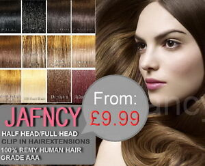 From-9-99-Clip-in-Remy-Human-Hair-Extensions-All-Color-Style