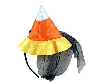 Needzo Candy Corn Witch Hat Headband Girl's Halloween Costume Accessory, 4 - Corn Costumes