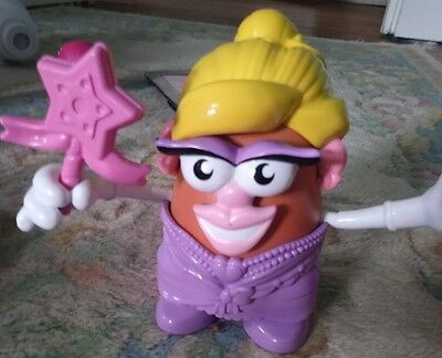 Playskool Disney Mr. Ms Miss Mrs. Potato Head Princess wand pink purple cat - Ms Potato Head