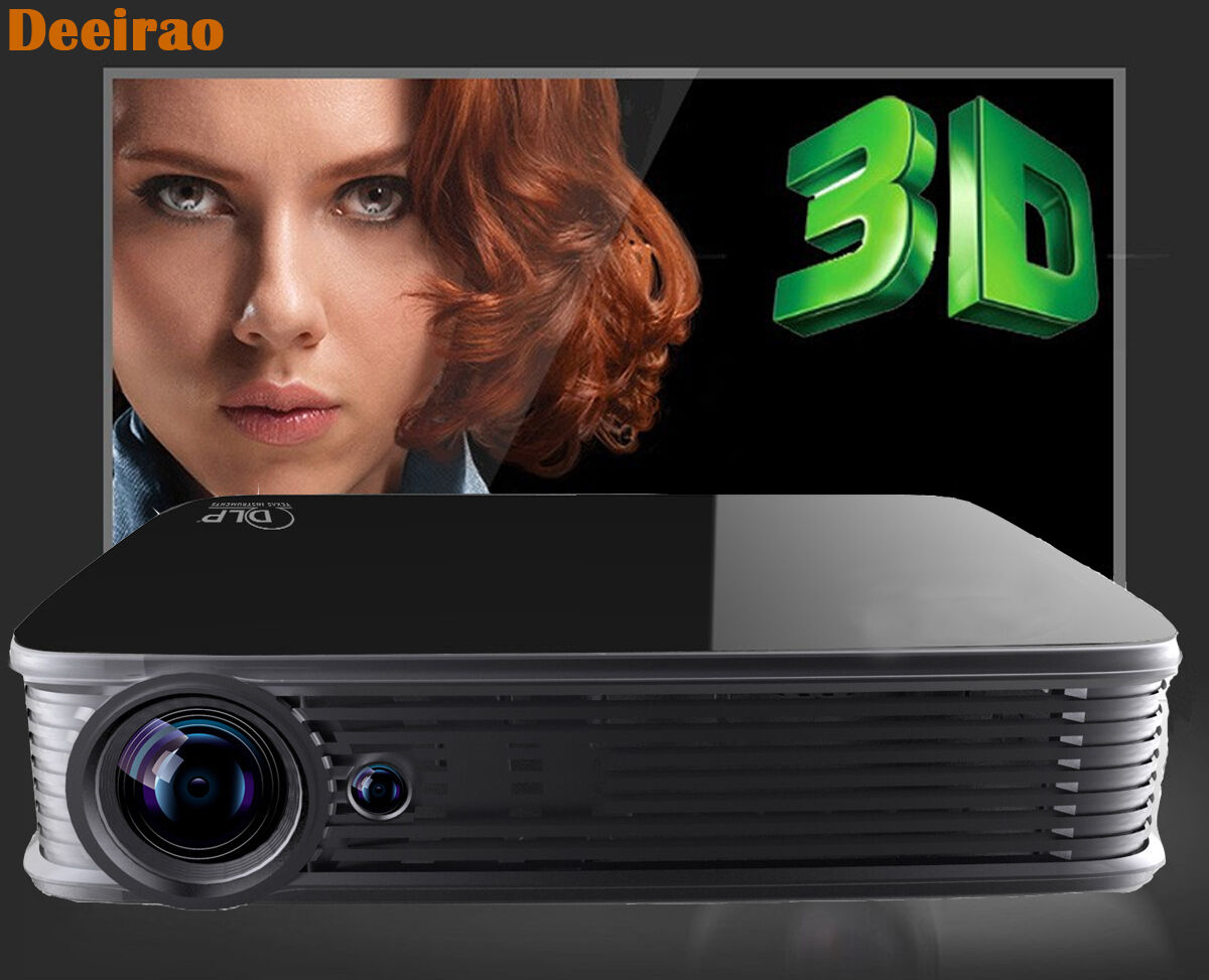 Best UHD 4K Android5 1 DLP Home Theater Projector HDMI 1080P