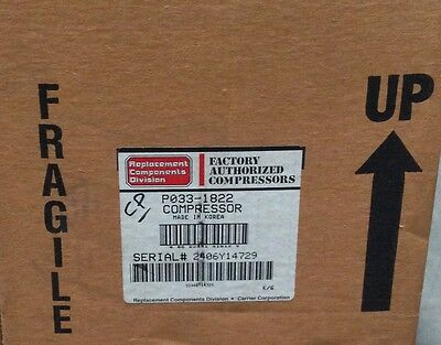 Discount Hvac Cp-p0331822 - Carrier Compressor 208230v 1ph Hp Free Freight