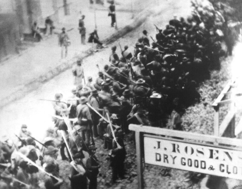 Confederate soldiers marching through Frederick Md - 8x10 Civil War Photo 1862