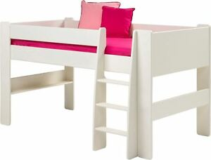 Steens White Memphis 3FT 90CM Single Cabin Bed Sleep Station mid midi sleeper