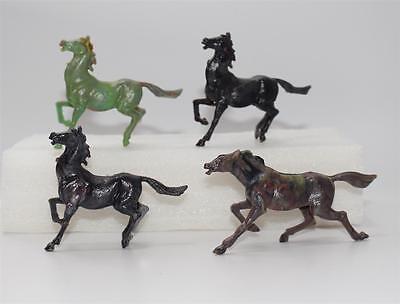 4x altes Bakelit Pferd  Kunststoff Pferde  #C574
