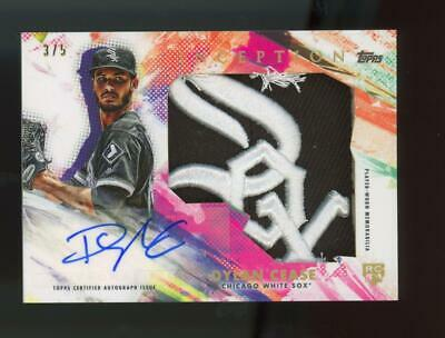 2020 Topps Inception Dylan Cease 3/5 Auto Autograph White Sox Patch Hat