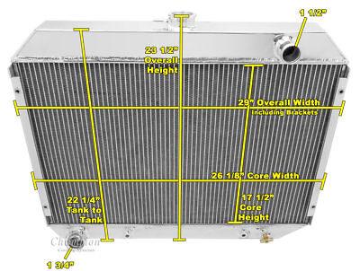 2 Row All Aluminum Radiator For 70 74 Mopar 26 Core CA