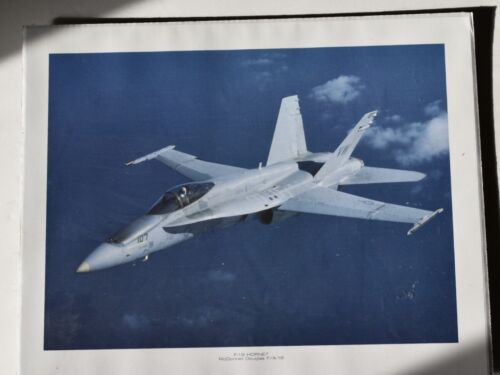 US Marines McDonnell Douglas F-18 Hornet Airplane Color Poster16 X 20 in.  #17