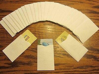 30 Tyvek Credit Debit Card Protector Holder Sleeve Envelopes Atm Id Gift Card