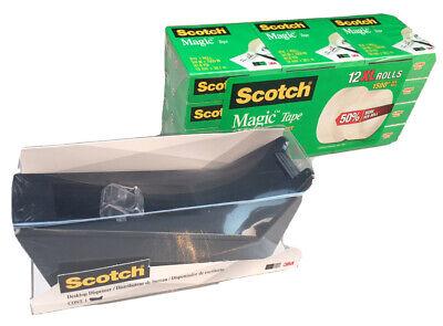Scotch Magic Tape Refill 12 Rolls 34 X 1500 Per Roll With Tape Dispenser