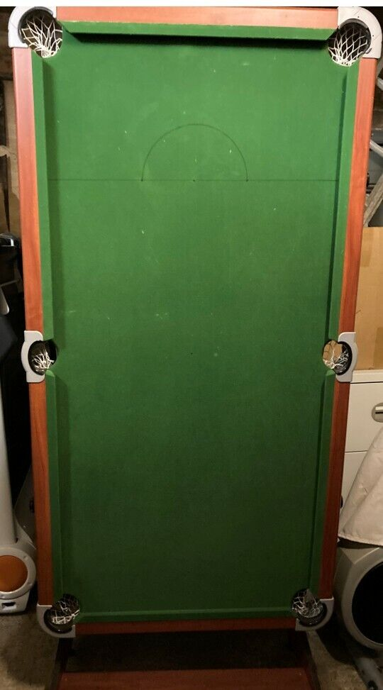 6ft Folding Snooker and Pool Table - Green. USED