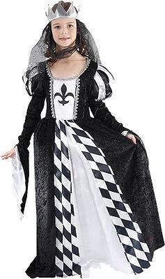 Mädchen Mittelalter Kostüm (Kostüm Mittelalter Königin Queen Burgfräulein  Gr. 134/146 Antike Mädchenkostüm)