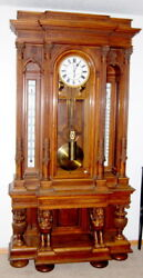 VERY RARE! Antique One Year Floor Standing Hall Clock: TO with a 2 pi... Lot 184