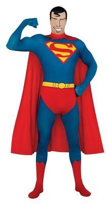 Superman 2nd Skin Suit DC Comic Full Body Men Bodysuit Costume Super Hero New - Comic Suit