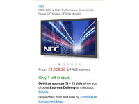 "RRP £1000 MultiNEC V323-2 LCD 32"" Value Large Format Display"