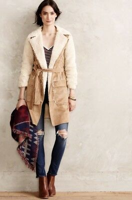 NEW Anthropologie Sherpa Open Plains Coat Size Large Petite HEI HEI Jacket for sale  Shipping to South Africa