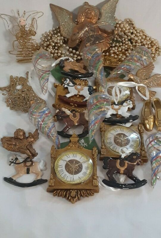 Ornaments Lot of 25 & Beads Garland
