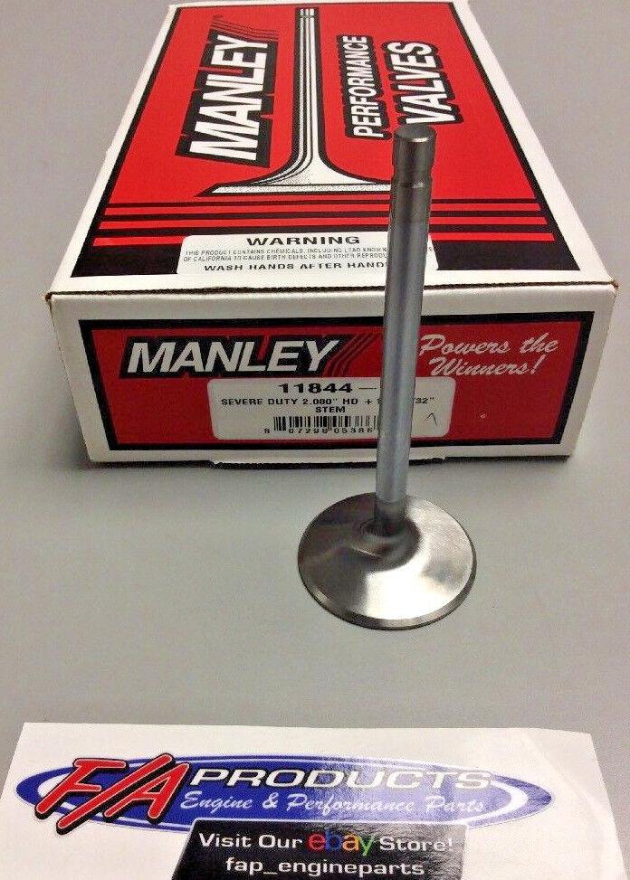 "Manley 11844-1 2.080"" Small Block Chevy Severe Duty +.100 SINGLE Intake Valves"