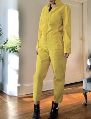 vans off the wall Jumpsuit Speed Suit Coveralls M Women's Yellow Playsuit -