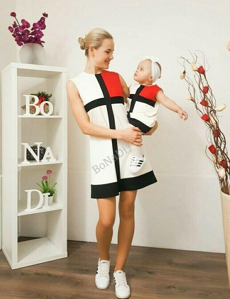 Mutter Tochter Kleid Partnerlook Mädchen Damen Matchingoutfit motherlikedauther