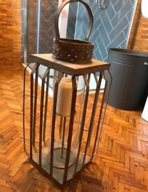 Large metal candle holder