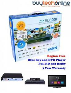 Multi-Region Blu-Ray Player Laser BLU-BD3000 1080P Multi Media 7.1 with LAN DLNA