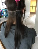 Tape- in hair extensions