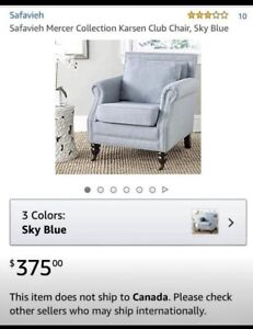 Beautiful accent blue chair new