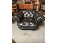 Tetrad Oskar black armchair
