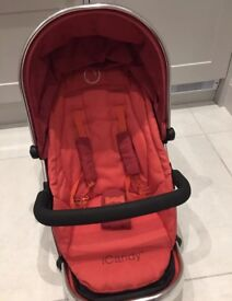 iCandy Tomato Carrycot, Lower Seat and Parasol