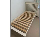 Single bed frame and bedside tables