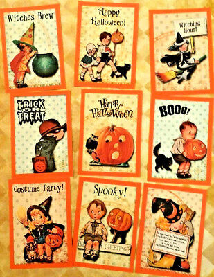 9 Witchy Halloween~Pocket Pen Pal~No Protector~Scrapbooking~Card Craft Making