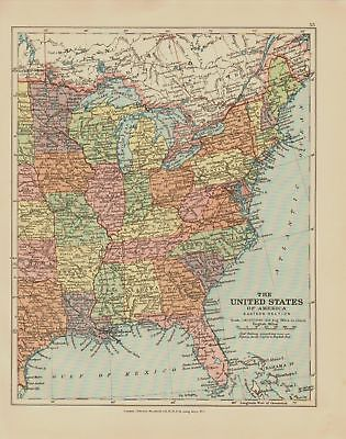 EDWARD STANFORD MAP  1920 . UNITED STATES
