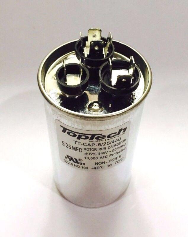 TOPTECH - Dual Capacitor 5+25 25/5 MFD AC Motor HVAC 440v  370 v vac v volts  uf
